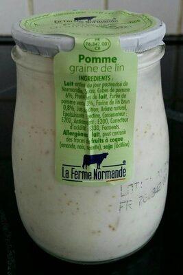 Yaourt pomme graine de lin - Product