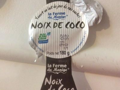 Yaourt Noix De Coco Au Lait Entier, 180 Grammes, Marque La Ferme Du Manège - 1