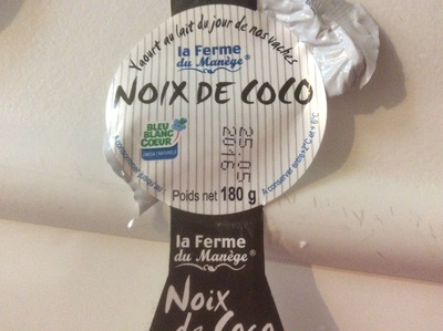 Yaourt Noix De Coco Au Lait Entier, 180 Grammes, Marque La Ferme Du Manège - Product