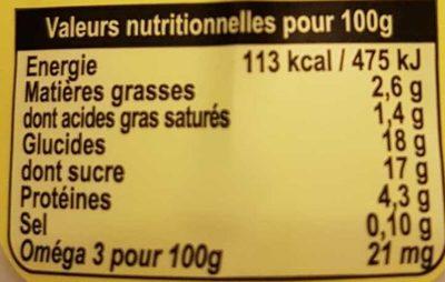 Yaourt Saveur Citron - Voedingswaarden - fr