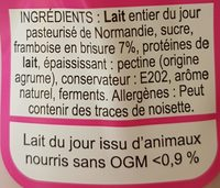 Yaourt Framboise - Ingrediënten - fr