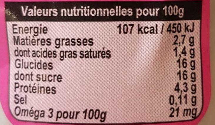 Yaourt Framboise - Voedingswaarden - fr