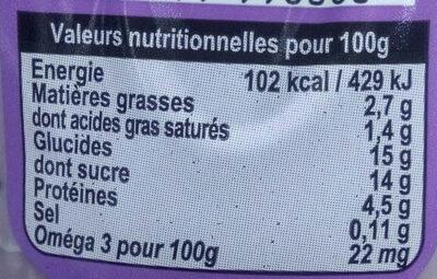 180G YAOURT LAIT ENTIER DU JOUR MYRTILLE FERMIER - Informations nutritionnelles - fr