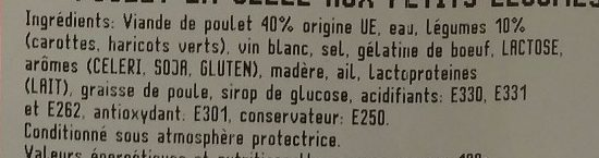 Poulet en Gelée aux Petits Légumes - Ingredients