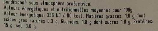 Poulet en Gelée aux Petits Légumes - Nutrition facts