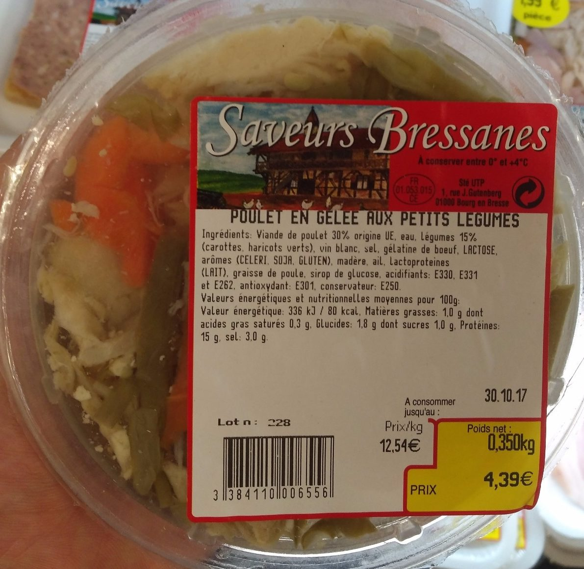 Poulet en gelee aux petits legumes - Product