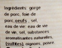 Terrine lyonnaise - Ingrédients - fr
