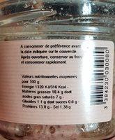 Terrine du bouchon lyonnais - Informations nutritionnelles - fr