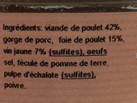 Terrine de poulet au vin jaune - Ingrédients