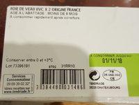 foie de veau - Ingredients