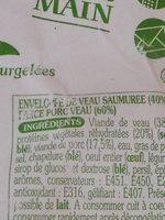 Paupiettes de veau - Ingrediënten - fr