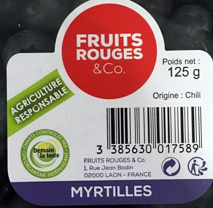 Myrtilles - Ingrédients - fr
