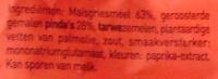 Snacks Cacahuète - Ingrediënten - nl