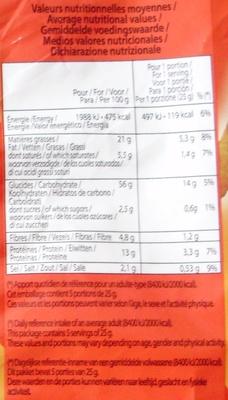 Snacks Cacahuète - Voedingswaarden - nl