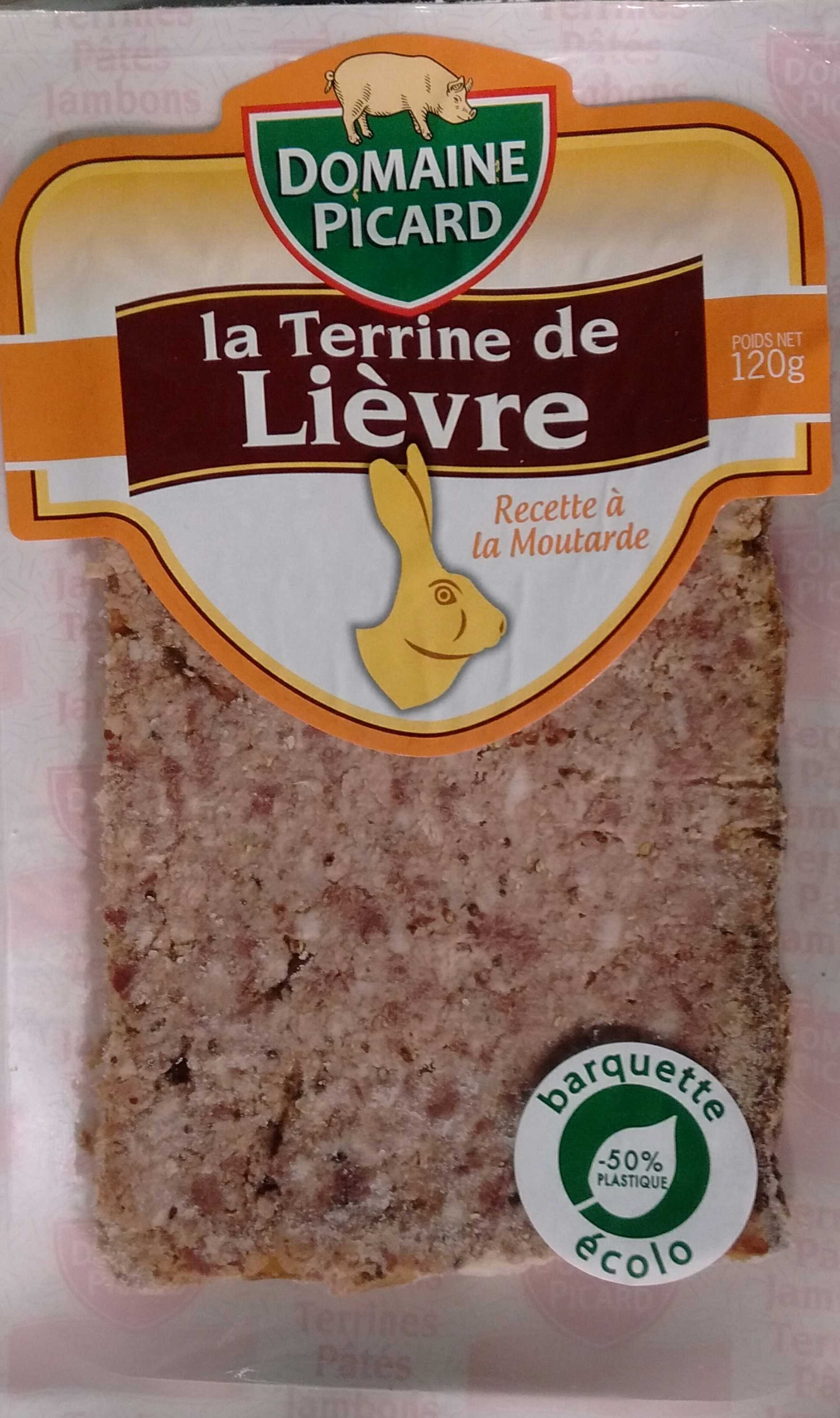 La Terrine de Lièvre recette à la moutarde - Produit