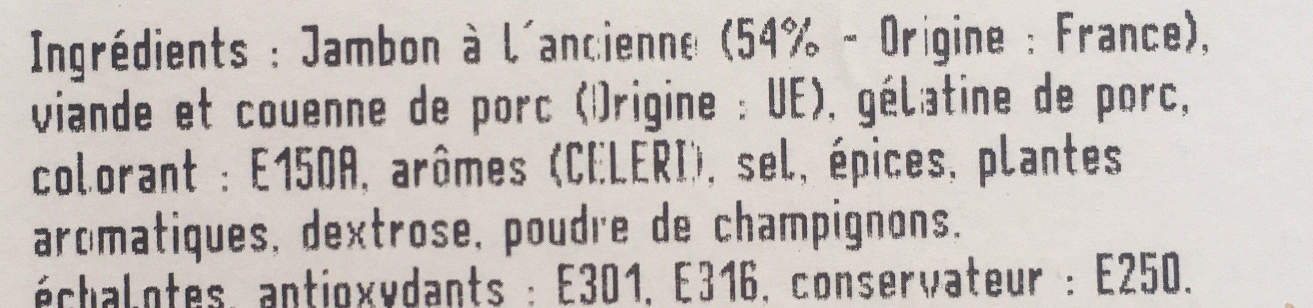 Pâté de jambon à l'ancienne - Ingredients - fr