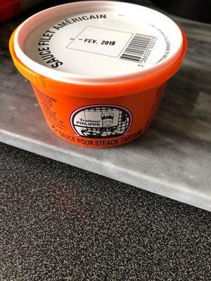 Sauce pour Steak Américain - Produit
