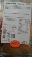 Samoussas Porc avec sauces - Produit - fr