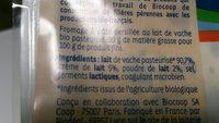 Bleu crémeux - Ingrédients - fr
