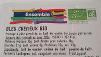 Bleu crémeux - Informations nutritionnelles - fr