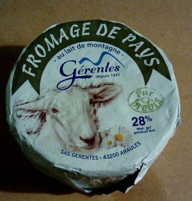 Fromage de pays au lait de montagne - Produit - fr