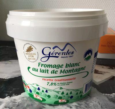 Fromage blanc au lait de montagne Laiterie Gerentes, 40% MG - Produit