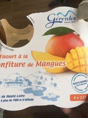 Yaourt à la confiture de mangue - Produit - fr