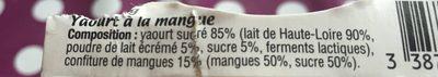 Yaourt à la confiture de mangue - Ingrédients - fr