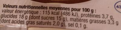Yaourt à la confiture de mangue - Informations nutritionnelles - fr