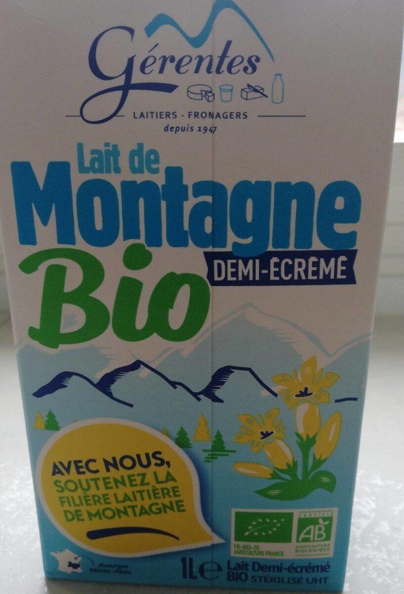 LAIT DE MONTAGNE BIO DEMI ECREME - Produit - fr