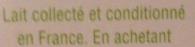 Lait demi-écrémé - Ingredienti - fr