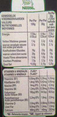 Céréales Lion - Voedingswaarden