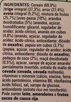 Fitness energia nutritia - Ingredients - pt