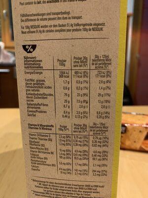 Nesquik - Informazioni nutrizionali - de