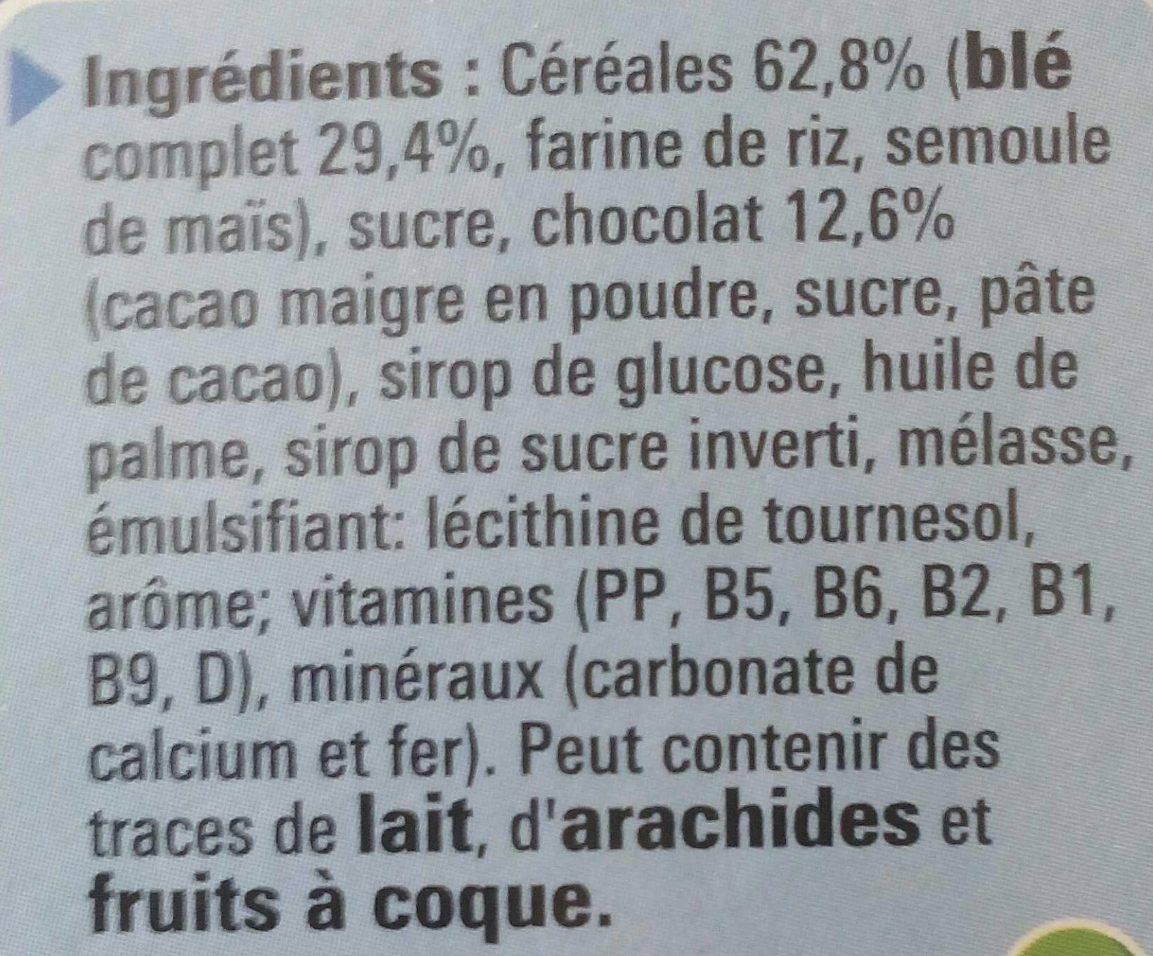 Crunch (20% gratuit) - Ingredients - fr