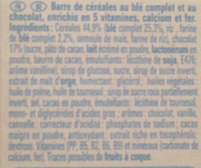 Barre de cereales Fitness Chocolat - Ingredienti