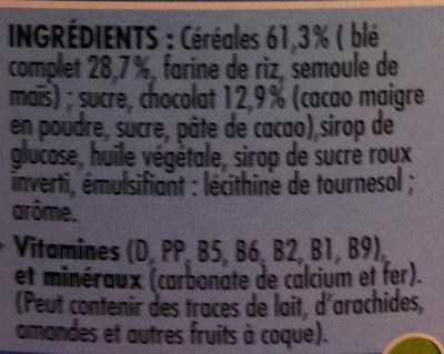 CRUNCH Céréales - Ingrédients - fr