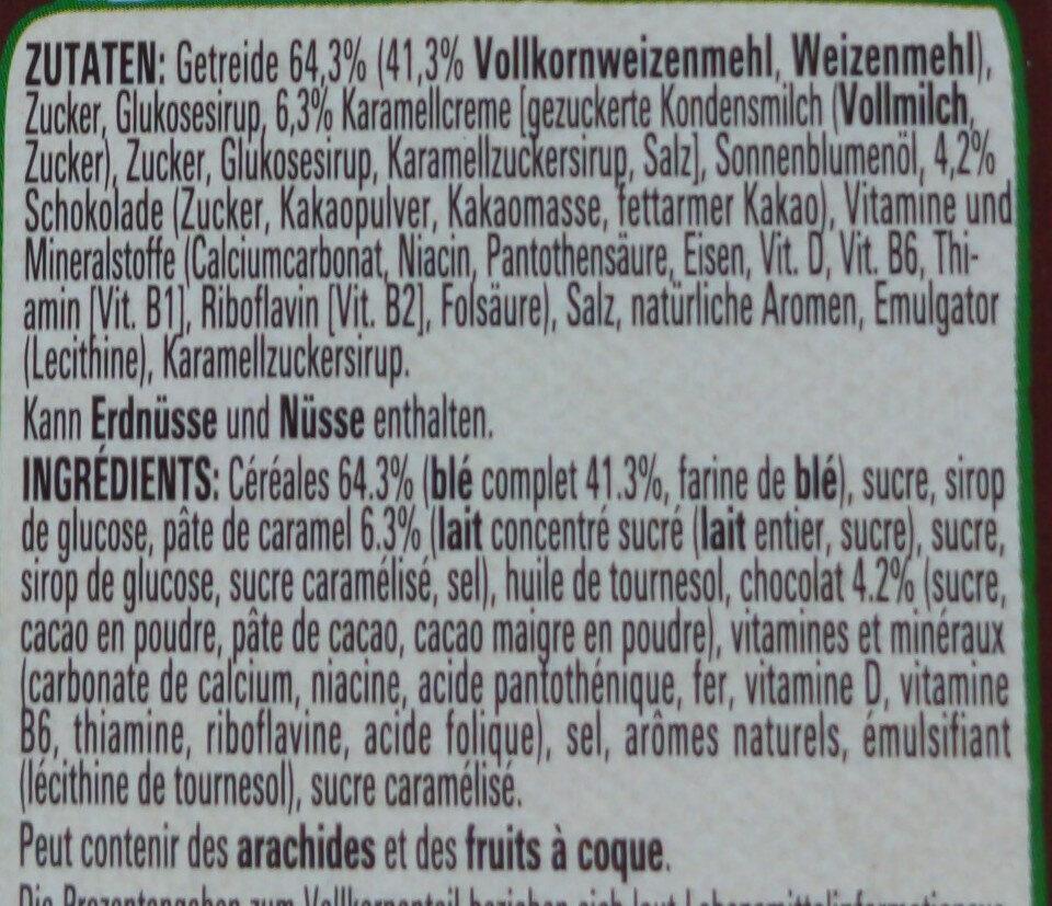 Lion Cereals karamell & schoko - Ingredienti - de