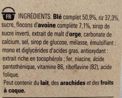 Fitness nature - Ingrédients - fr