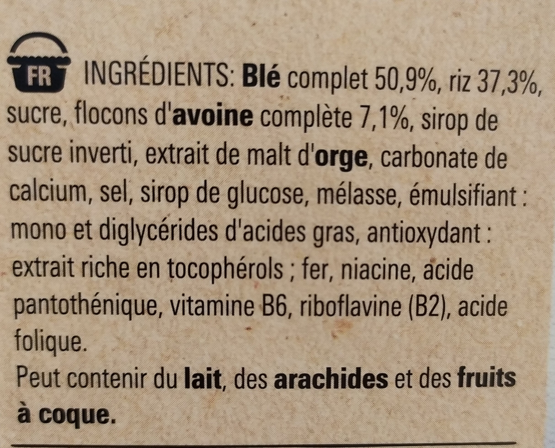 NESTLE FITNESS Nature Céréales - Ingrédients - fr
