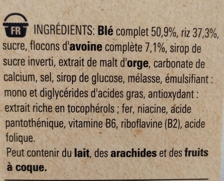 NESTLE FITNESS Nature Céréales - Ingredients - fr