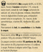FITNESS Nature Céréales - Ingredients - fr