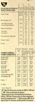 FITNESS Nature Céréales - Nutrition facts - fr
