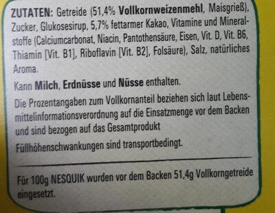 Nesquik Knusper Frühstück - Zutaten - de
