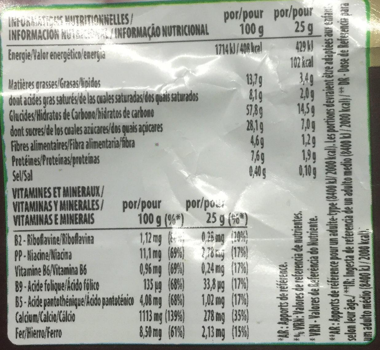 Chocapic - Informação nutricional - fr