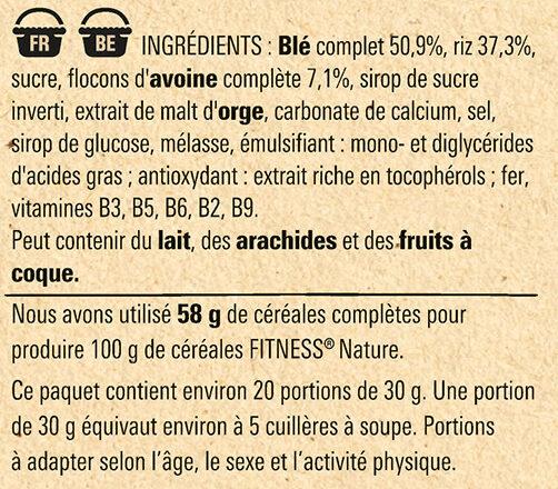 FITNESS Nature Céréales Petit Déjeuner - Ingredientes - fr