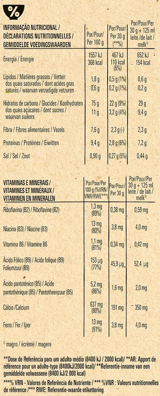 FITNESS Nature Céréales Petit Déjeuner - Informação nutricional - fr