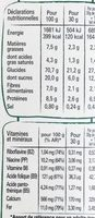 NESTLE FITNESS Chocolat au lait céréales - Nutrition facts - fr