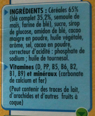 Cookie Crisp - Ingredients