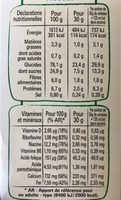 Cookie Crisp - Nutrition facts